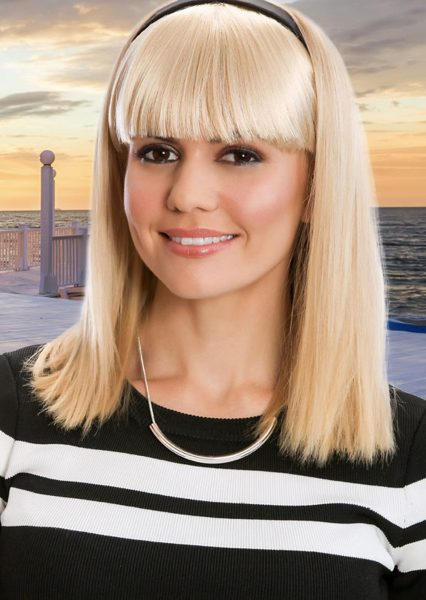 Headband Fringe Platinum Blonde