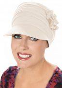 Bamboo Florette Newsboy Hat Cream