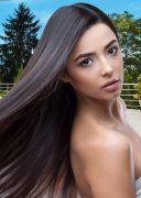 Human Hair Clip In Extension 5cm Width 1B