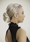 Braid Bun Platinum Blonde
