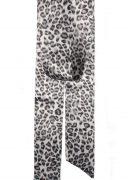 Black Leopard Print Satin