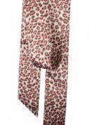 Pink Leopard Print Satin