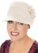 Bamboo Florette Newsboy Hat Cream