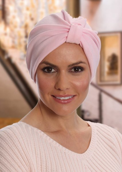 Polycotton Turban Light Pink