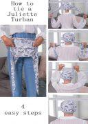 How to tie a Juliette turban